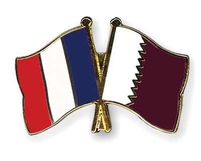 Drapeaux France-Qatar
