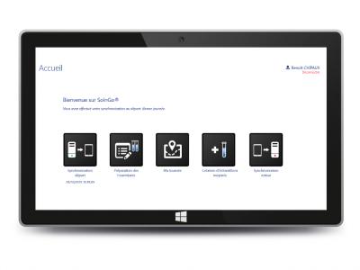Page d'accueil SolnGo avec tablette 2015-11